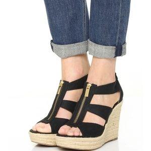 b3b7525a4 MICHAEL Michael Kors Shoes | Nadine Black Gladiator Wedge | Poshmark